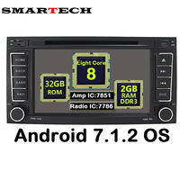 SMARTECH 2 Din 8 Core Android 7 1 2 Car Stereo Radio GPS Navigation Touareg T5