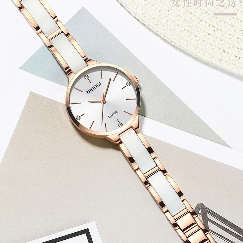 NIBOSI Watch Women Watches Ladies Creative Women's Ceramic Bracelet Watches Female Clock Relogio Feminino Montre Femme 5