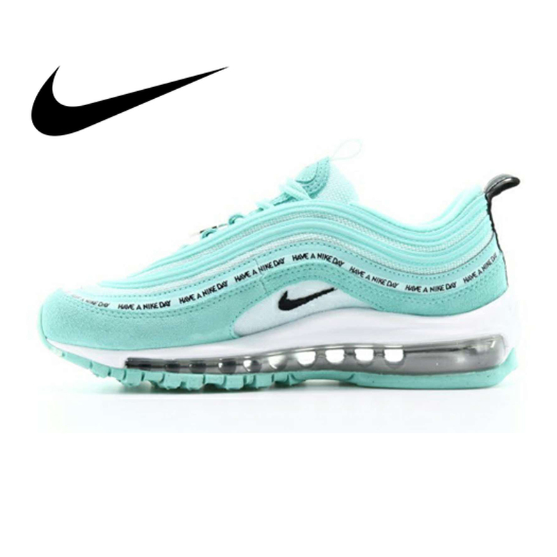 Original authentique Nike Air Max 97 GS chaussures de course pour femmes Sport baskets de plein Air chaussures de Designer athlétique 2019 nouveau AV3181