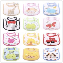 5PCS /LOT Mixed Sales Cotton  Baby Bibs Waterproof Infant Bibs(send By Boys or Girls) cTRK0010