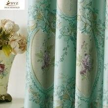 Затеняющая занавеска из ткани в Европейском стиле простая современная