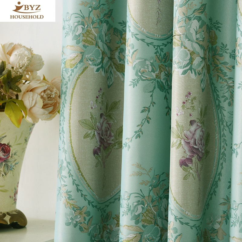 The Shading Curtain Fabrics European Pattern Simple Modern Curtains For Living Dining Room Bedroom Window