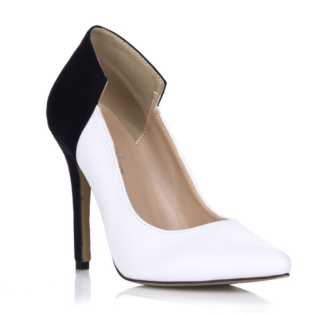 hot sale new fashion 2018 women sexy pointed toe high heels white black patchwork slip-on single shoes party wedding dress pumps de la chance women pumps 2018 ladies shoes high heels green black sexy suede pointed toe slip on wedding party shoes dress