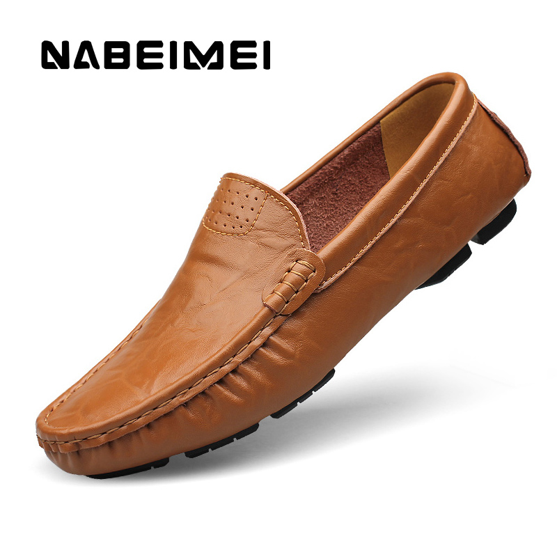 Brand  men shoes Genuine Leather Plus size 4-16 yard slip-on Casual shoes zapatos mujer Full Grain Leather shoes men loafers cangma italy deluxe brand women men casual golden shoes zebra silver genuine leather low sstar smile goose shoes zapatos mujer