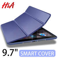 H&A 360 Full Leather Smart Case For Apple New iPad 9.7 inch 2017 2018 Cover for iPad 9.7 A1822 A1823 A1893 A1954 Protective Case