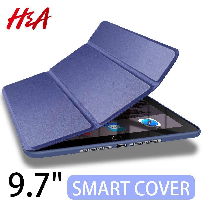 H y un 360 de cuero caso para Apple nuevo iPad 9,7 pulgadas 2017 2018 cubierta para iPad 9,7 a1822 A1823 A1893 A1954 funda protectora