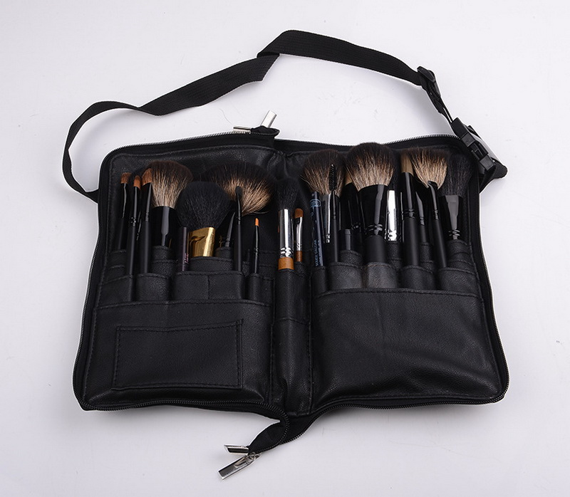 Eye Shadow Applicator By Ems Or Dhl 50pcs 28 Pockets Makeup Brush Apron Bags Cosmetic Leather Bag Numerous In Variety