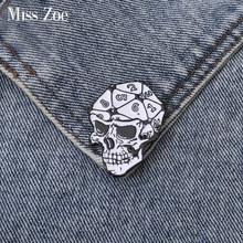 Skeleton DnD Brain 20 sided dice Dungeons and Dragons Enamel pin Custom Brooch Bag Clothes Lapel Pin D20 Badge Game Jewelry(China)