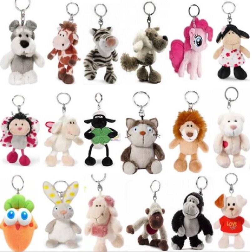 Plush-Keychains Tiger-Elephant Pendant-Doll Stuffed-Toys NICI 20pcs/Lot Phone S4182