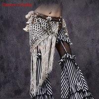 Dancer's Vitality Belly Dance Tribal Hip Scarf White Tassel Belt for Tribal Style Handmade Dance Accessories