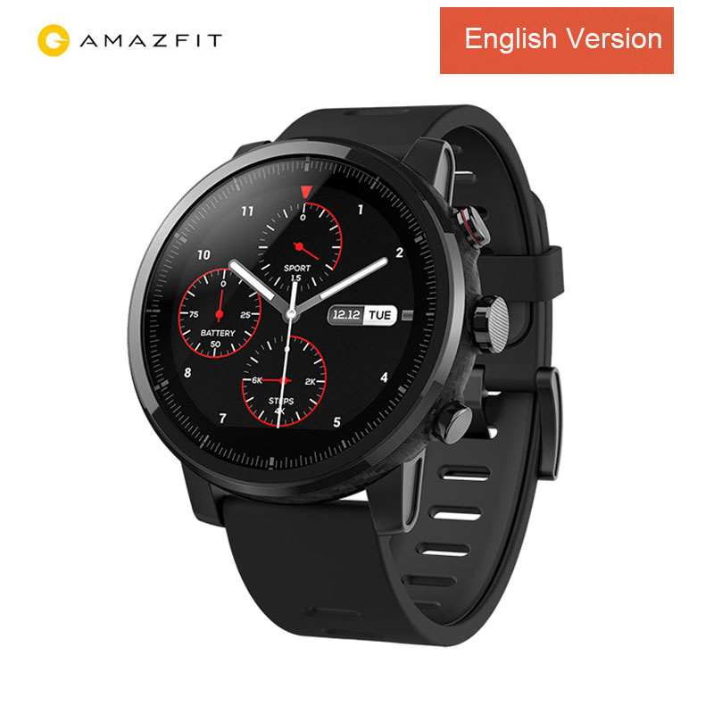 Huami Amazfit Smartwatch Stratos 2 GPS PPG Heart Rate Monitor 5ATM Waterproof Sports Smartwatch English Version