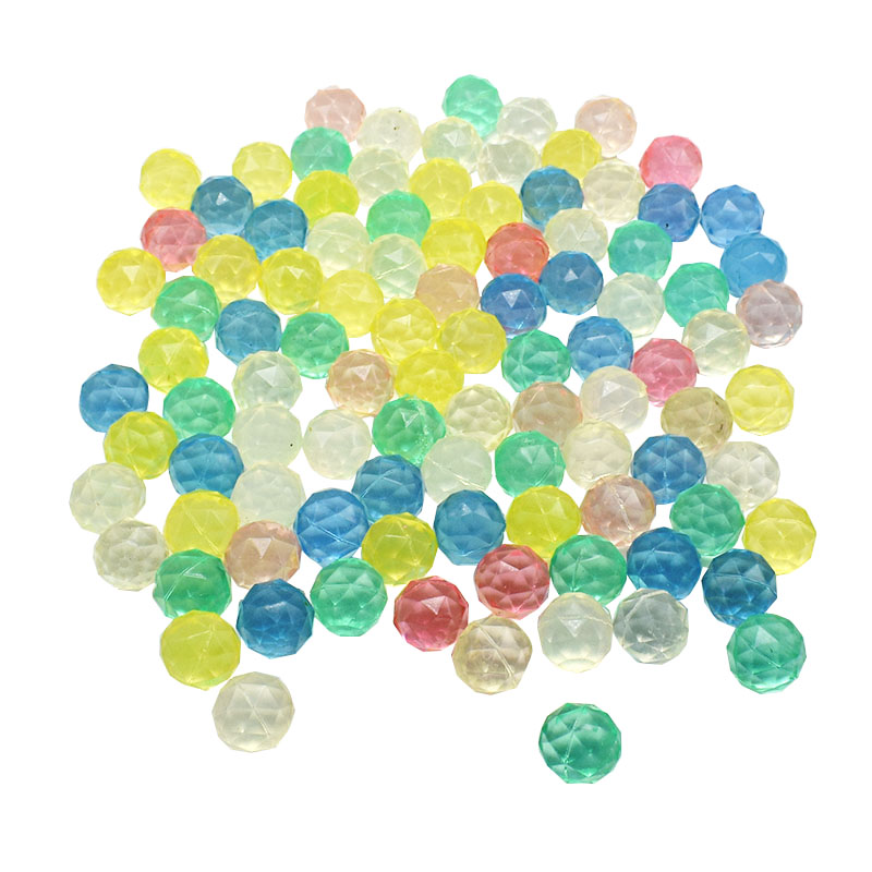 100Pcs/Lot Diamond Shape Bouncing Ball Floating In Water Child Elastic Ball Kids Of Pinball Bouncy Toys
