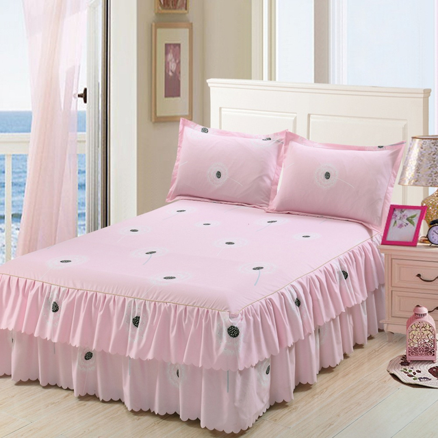 Double Layer Skirt Bedding Set