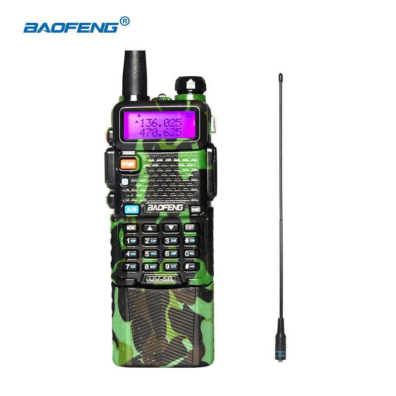BAOFENG UV-5R иди и болтай Walkie Talkie с 3800 мА/ч, литий-ионный аккумулятор с камуфляжным принтом 136-174/400-520 МГц Dual Band двухстороннее радио/UHF UV5R