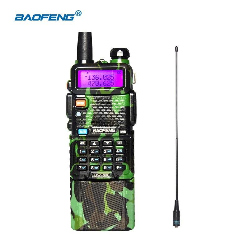 imágenes para BAOFENG UV-5R camuflaje 136-174/400-520 Mhz de Doble Banda Walkie Talkie con 3800 mAh batería de li-ion Radio de dos vías VHF/UHF