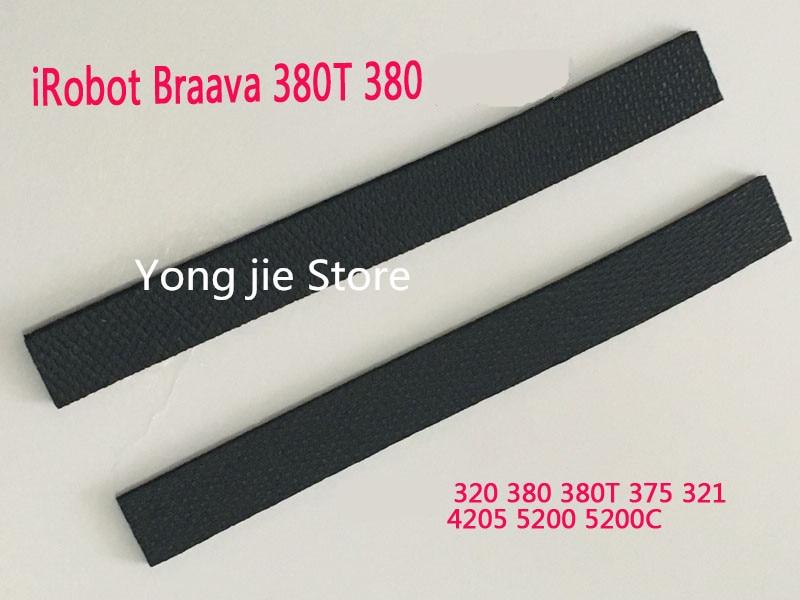 2pcs wheel tire leather fetal skin for irobot braava 320 380 375t 380t mint - Irobot Braava 380t