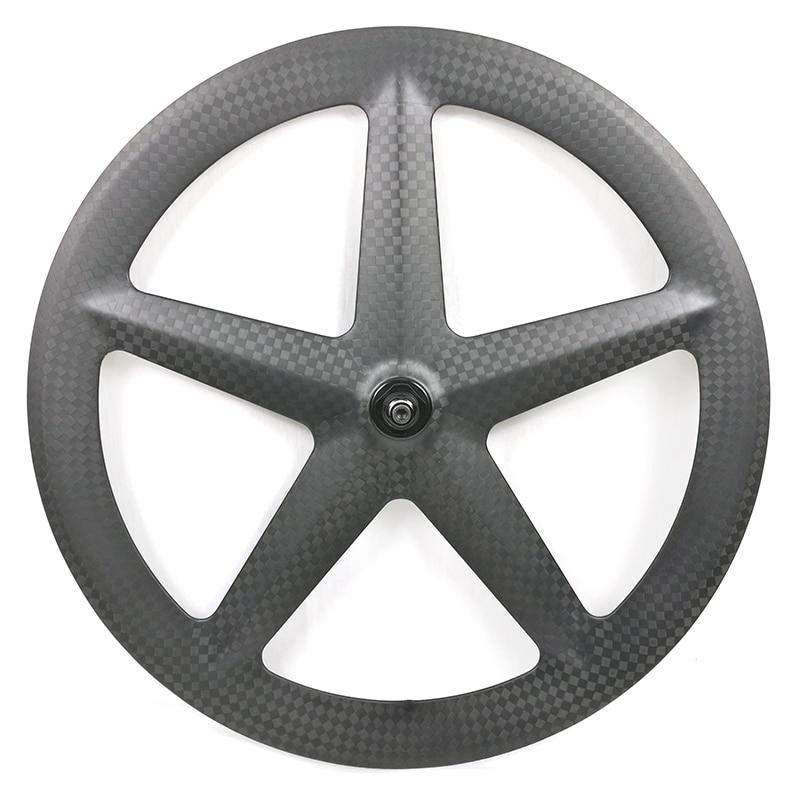 Nouveau design plein carbone et haute TG 5 rayons roues de vélo de route 700c vélo de piste 12k roues VX-5F