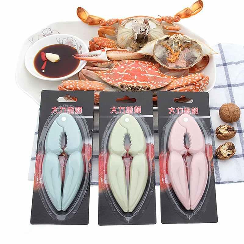 Plástico prático garra de caranguejo clipes ferramentas de frutos do mar conjunto de garras de caranguejo clipe hree peças pino caranguejo comer ferramentas