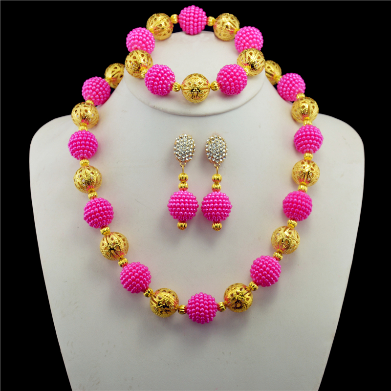 2017 New Nigerian Wedding Jewelry Sets Indian Bride Accessories