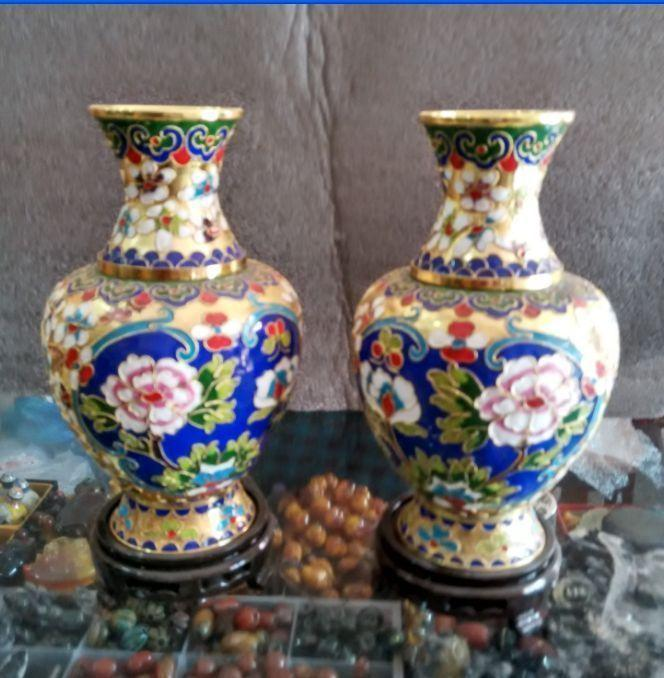Collecting Chinese cloisonne carved dragons and phoenixes vaseCollecting Chinese cloisonne carved dragons and phoenixes vase