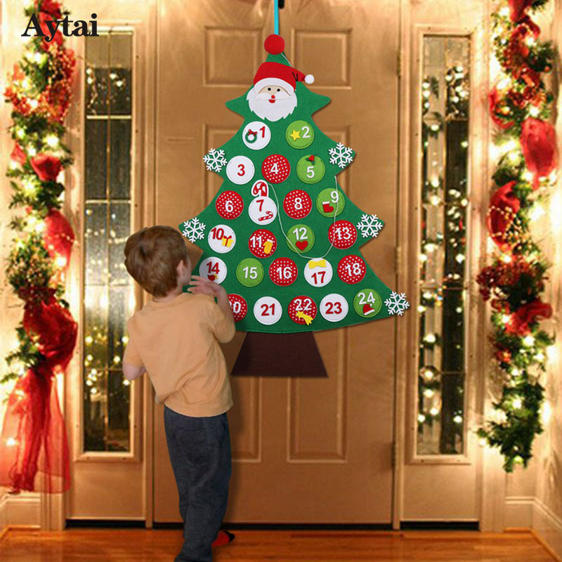 Ourwarm Felt Christmas Advent Calendar 2018 Wall Hanging Tree Calendars For Decorations 1s Sds Gl Supplies