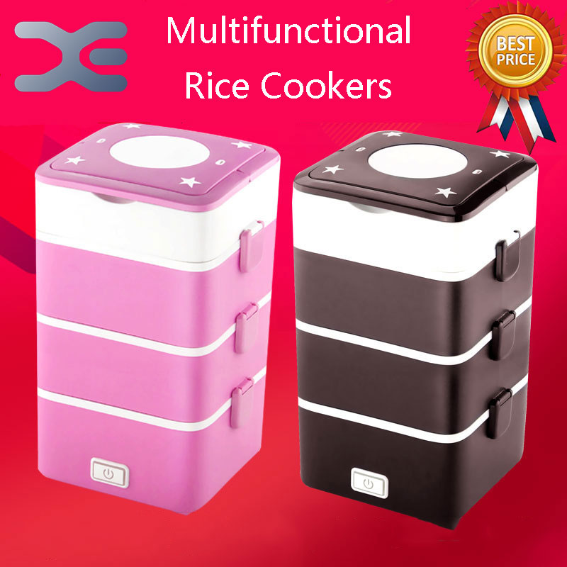 4 Layer Square Rice Cooker 2.2L Small appliances  Electric Lunch Box Electronic Heating Lunch Box