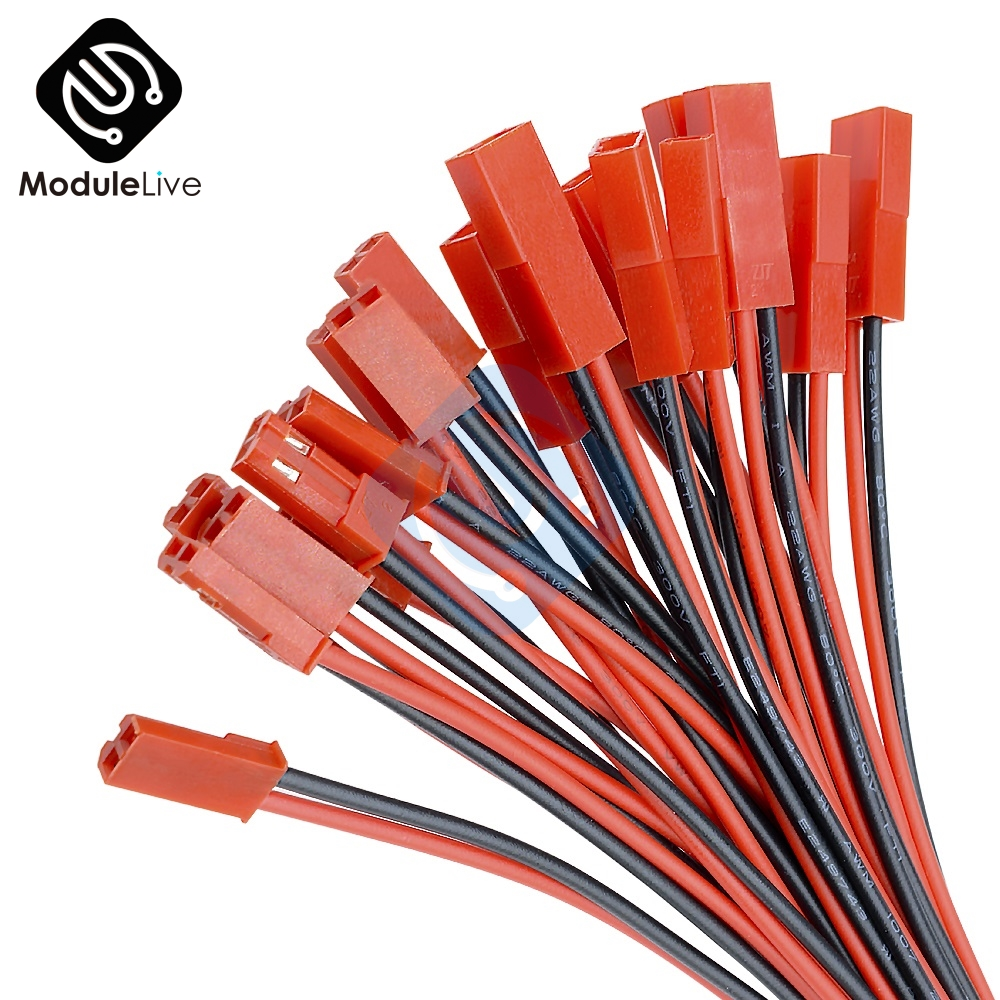 5Pairs 100mm 10cm JST Plug Cable  Male Female ConnectorFor RC BEC Battery Helicopter DIY FPV Drone Quadcopter