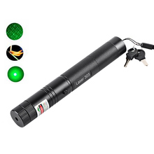 Hot Green Laser Pointer Pen Adjustable Burning Match With Rechargeable 5mW High Power 532nm