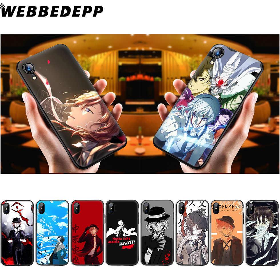 WEBBEDEPP Bungo 野良犬アニメソフト iphone 11 プロ Xr Xs Max X または 10 8 7 6 6S プラス 5 5S 、 SE ケース 8 プラス