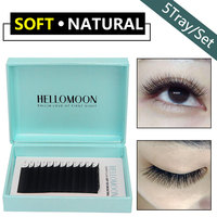 Hellomoon mink individual lashes,Same length in one tray,5pc eye lash fake extension,lashes extension for professionals salon