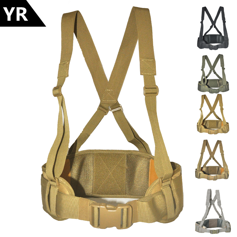 Tactical Molle Belt Men's Army Special 600D Nylon Military Belt Convenient Combat Girdle EAS H-shaped Adjustable Soft Padded