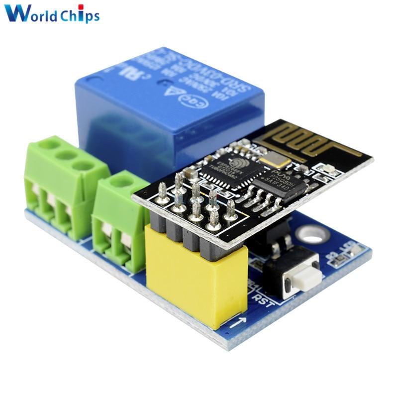 ESP8266 ESP-01S 5 V WiFi módulo de relé las cosas de casa inteligente interruptor de Control remoto para Arduino teléfono APP ESP01S inalámbrico módulo WIFI