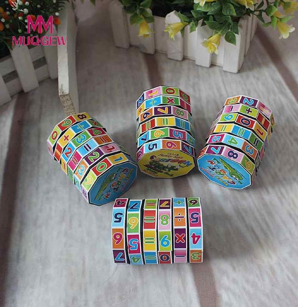 جديد ماجيك مكعبات ألعاب تعليمية للأطفال أطفال الرياضيات أرقام رقمية ماجيك كيوب ألعاب ألغاز لعبة هدية # N30