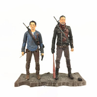 2017 The Walking Dead AMC TV Series 5 NEGAN & GLENN Action Figure Bloody 2 Pack McFarlane Deluxe Set Collectible Original Loose