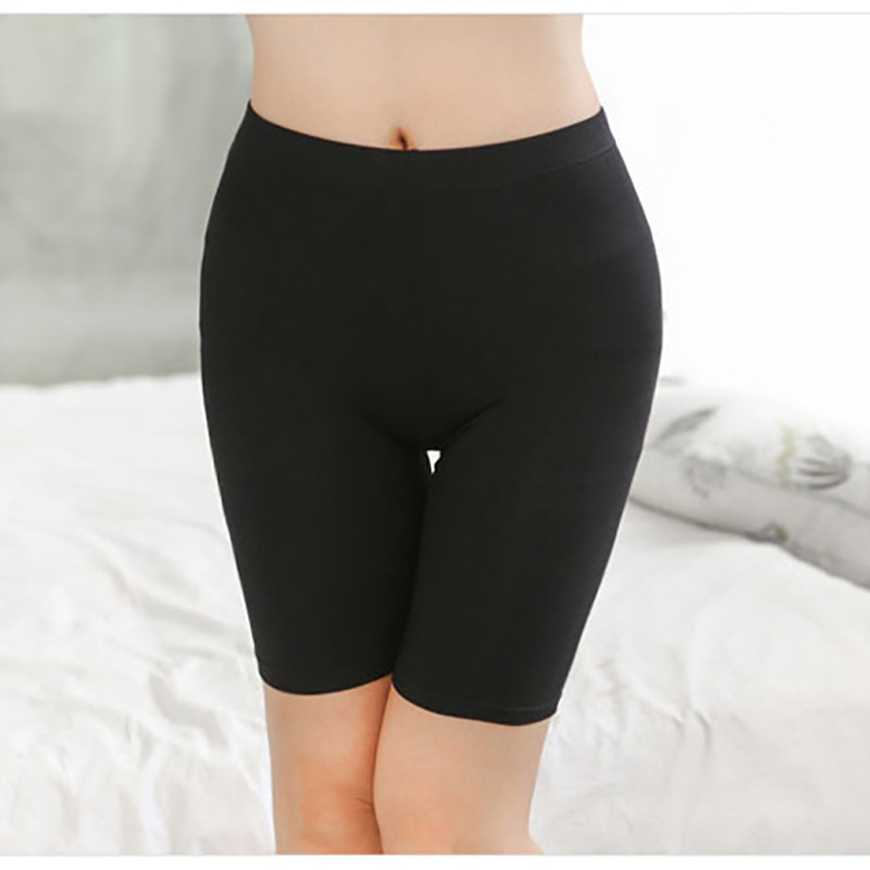XS-XXXL 2018 sexy Ladies Knee-Length Short Leggings Under Skirts, Comfortable Lightweight Bamboo Underpants for Summer
