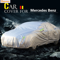 Auto Car Cover Anti UV Sun Shade Rain Snow Scratch Dust Protector Cover Waterproof For Mercedes