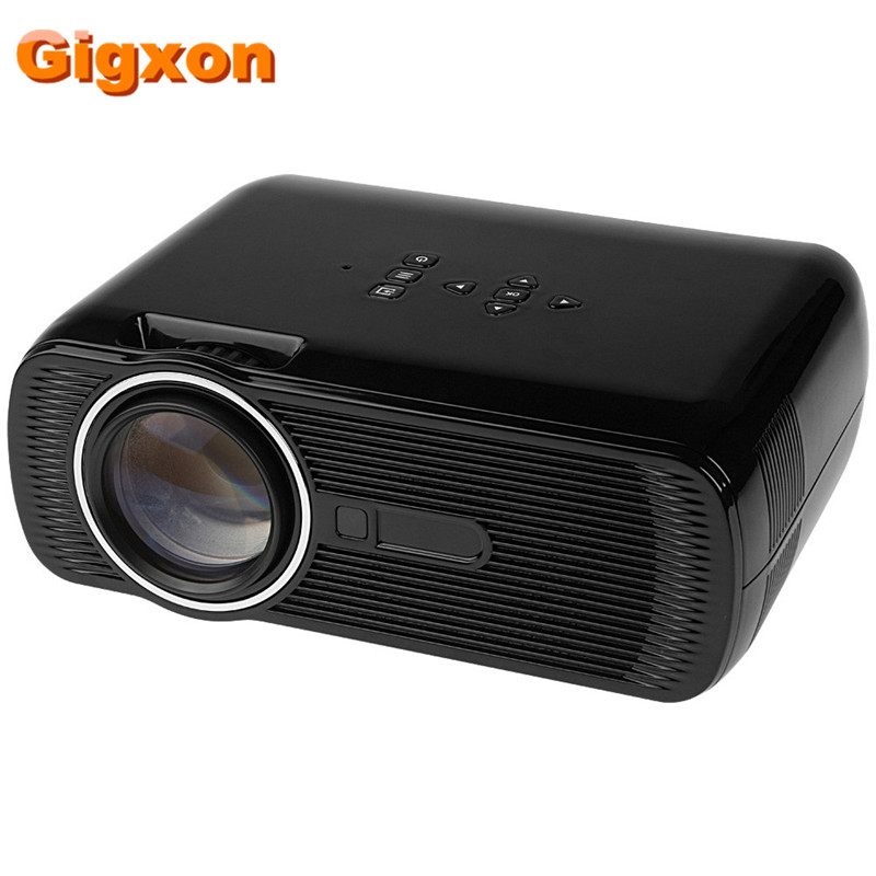 Gigxon- G80 Portable Digital mini projector 800*480 1000 Lumens HD 3D LED Projector Home Cinema Theater VGA USB SD AV HDMI gigxon g700a android portable mini projector support full hd level 1920x1080pixels 1200 lumens led projector