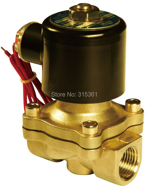 Free Shipping 5PCS/Lot 110VAC 2W 1/2 Water Solenoid Valve NC Brass Alloy Solenoid Valve free shipping 5pcs dc24v 1 2 water solenoid valve nc brass alloy valve body