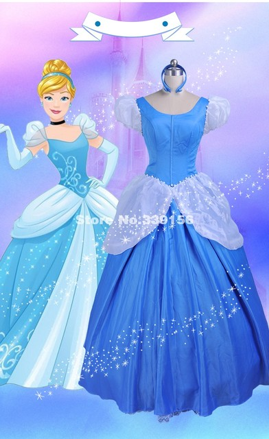 Best Seller Blue Green Fairy Tales Cinderella Dresses Adult Princess  Cinderella Cosplay Dress Costumes Halloween Party Costumes