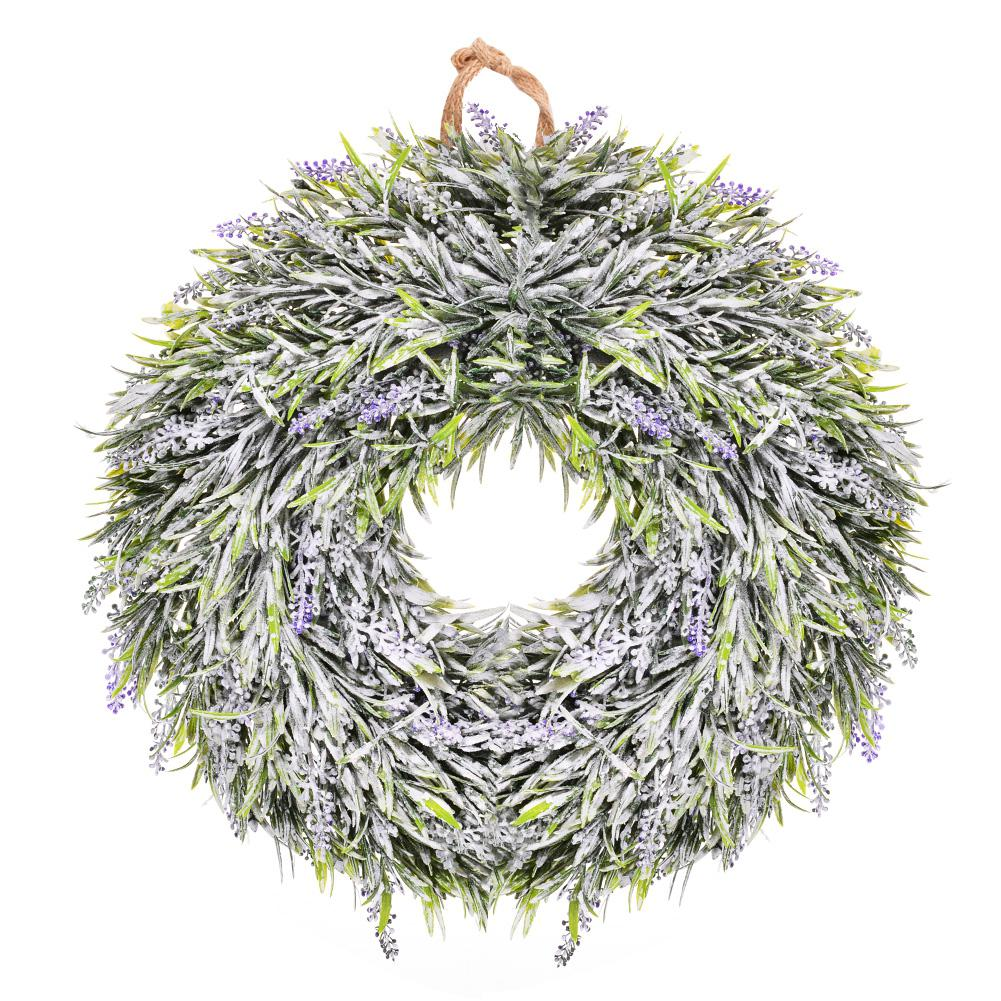 Adeeing Thinkmax Door hanging wall Window decoration Lavender Flower wreath Easter Holid ...