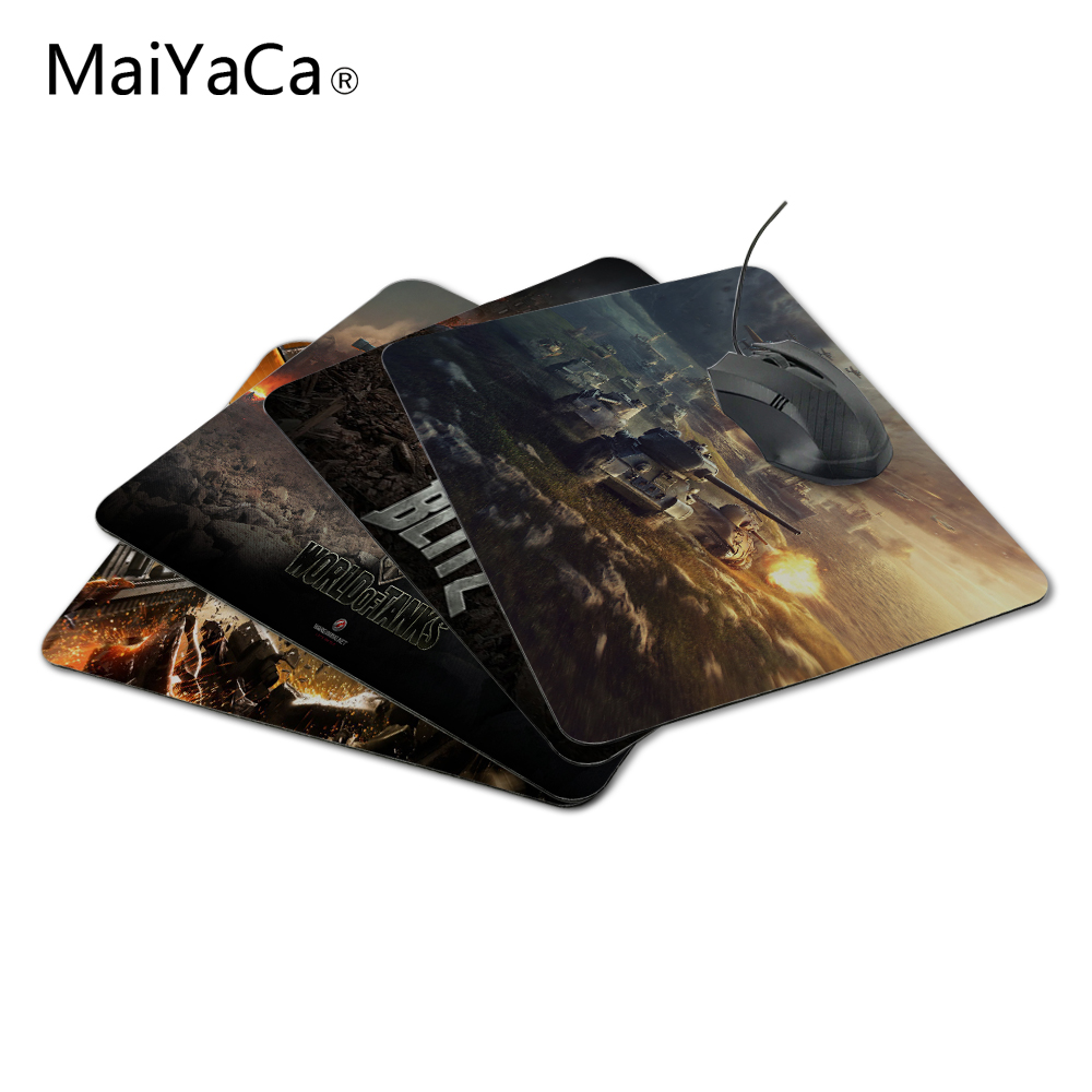 MaiYaCa New Anti-Slip PC World of Tanks Naturlig Silon Mouse Mat 220mmX180mmx2mm Pad Me Mat för Optal