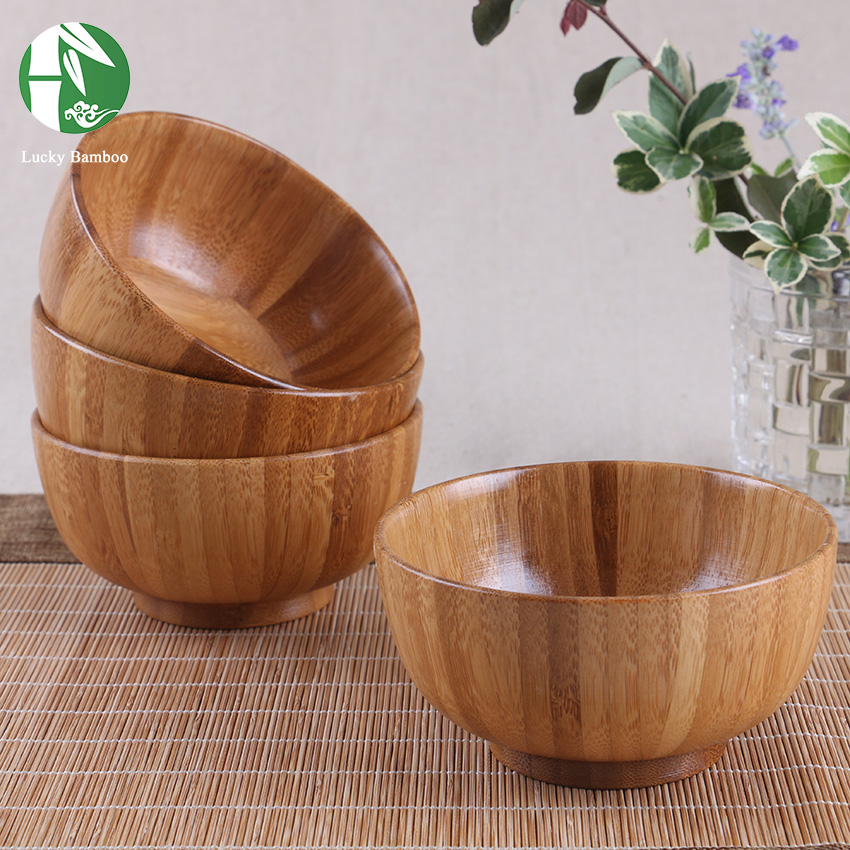 Wooden Bar Bowls ~ Natural wooden bowl chinese food containers bamboo