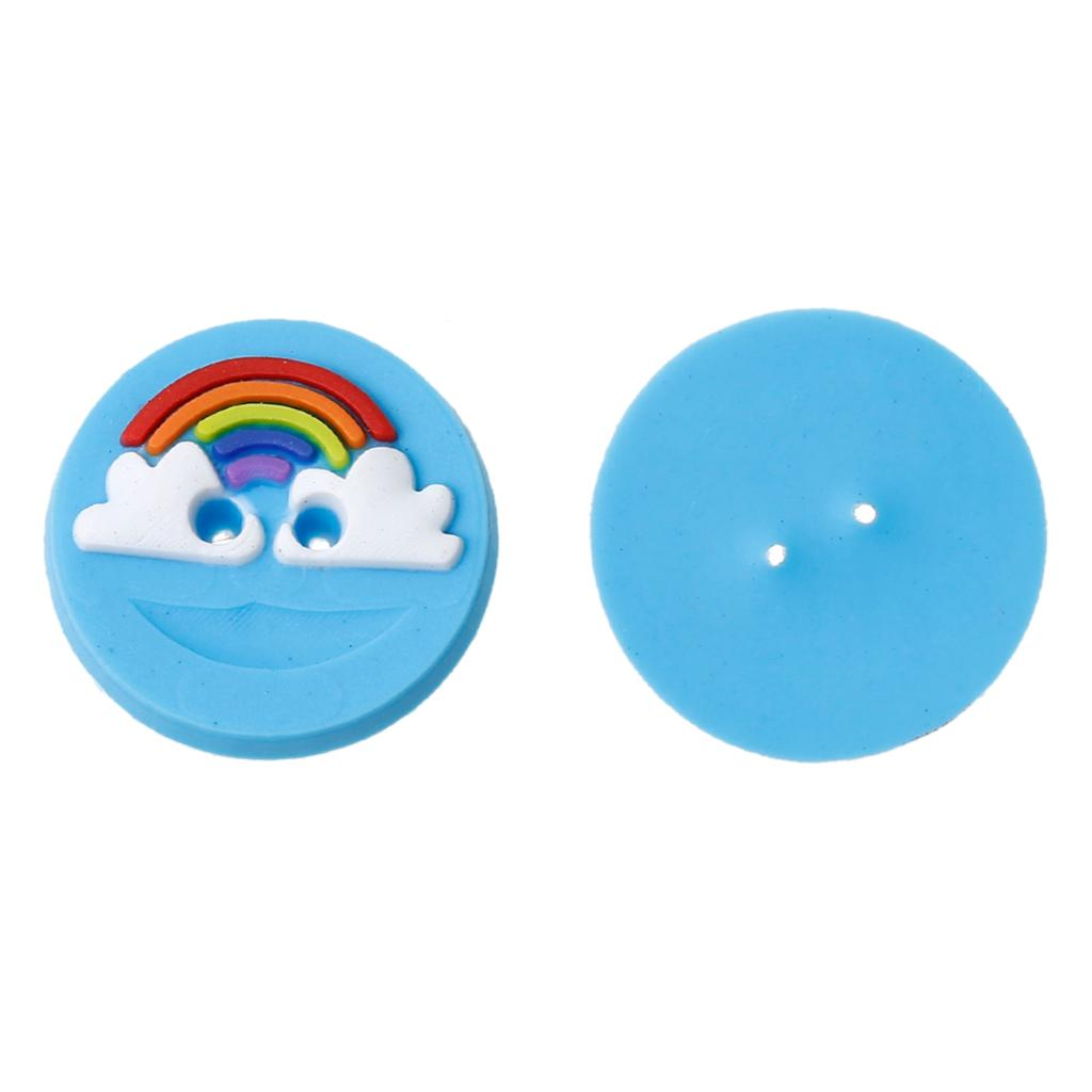 Apparel Sewing & Fabric Doreenbeads Polymer Clay Sewing Scrapbooking Button Round Blue Two Holes Cloud Pattern 15mm Dia,10 Pcs 2017 New