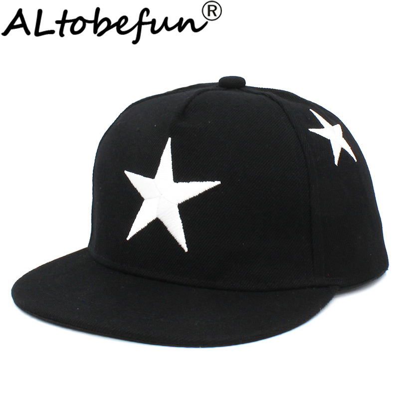ALTOBEFUN Snapback Cap Baseball-Cap Stars Hip-Hop Adjustable Children Summer Boy Kid title=