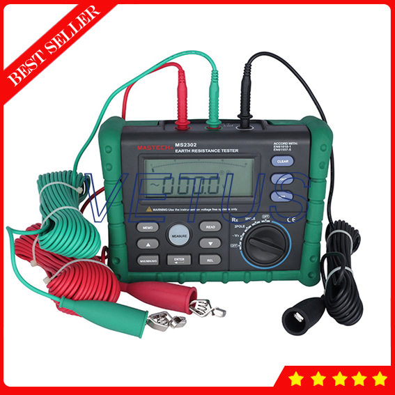 MS2302 Digital Earth Ground Resistance Tester with Megger Insulation Meter LCD Display  цены