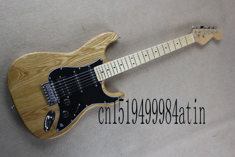 Free shipping Top Quality Hot New Arrive Stratocaster nature wood Electric Guitar Shipping In Stock @32