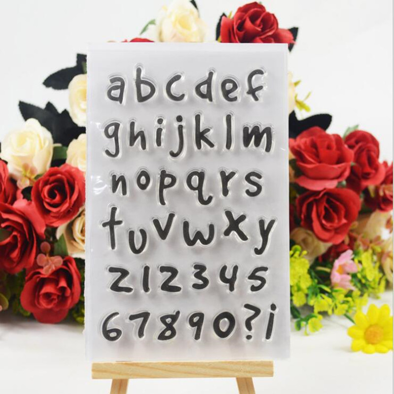 English Letter Transparent Clear Stamp Album DIY Diary Silicone Stamp DIY Scrapbook Card Making Christmas Decoration Kids Crafts