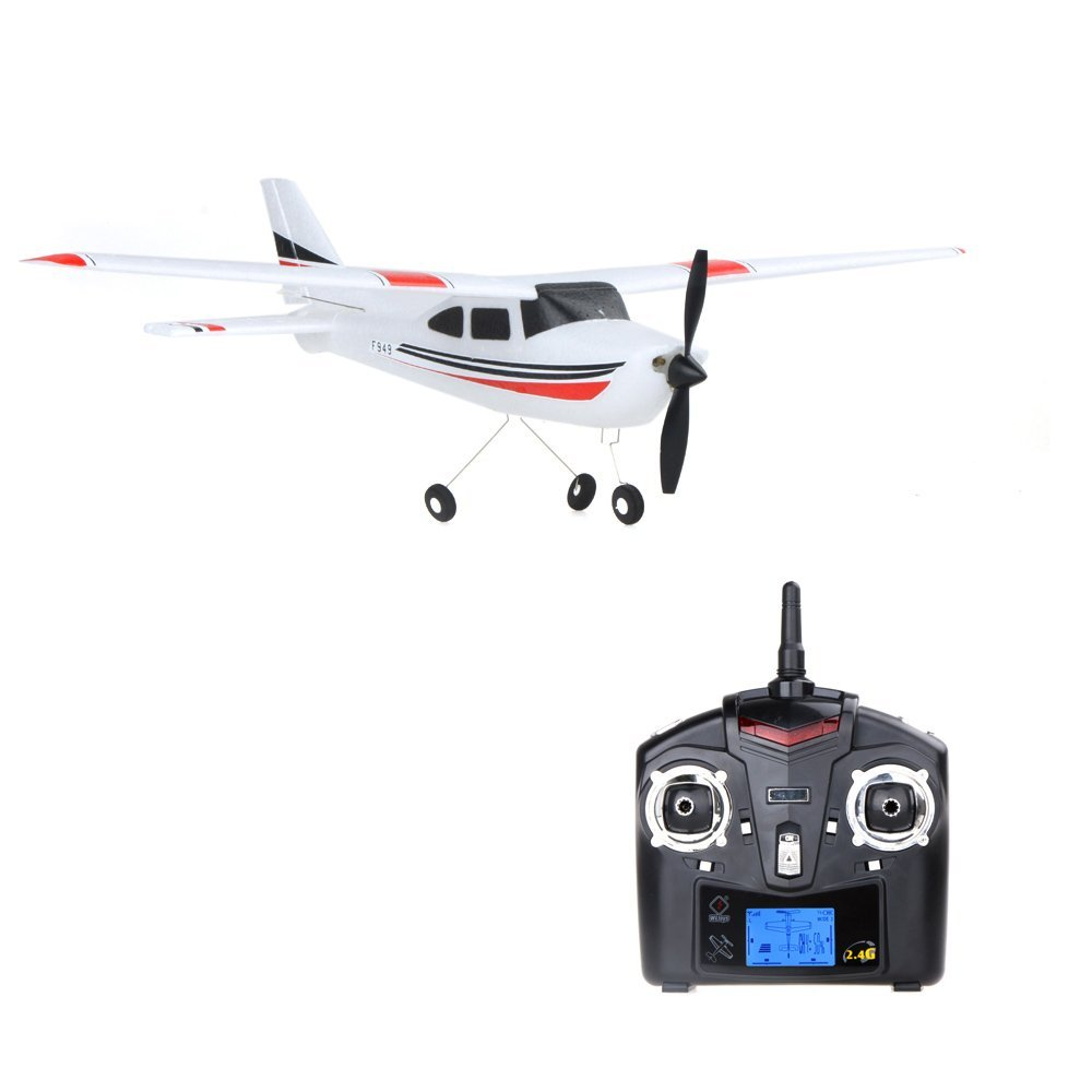 ФОТО EBOYU(TM) F949 Cessna 182 Remote Control 3ch Fixed Wing Drone Plane Rc Toys Airplane Aircraft