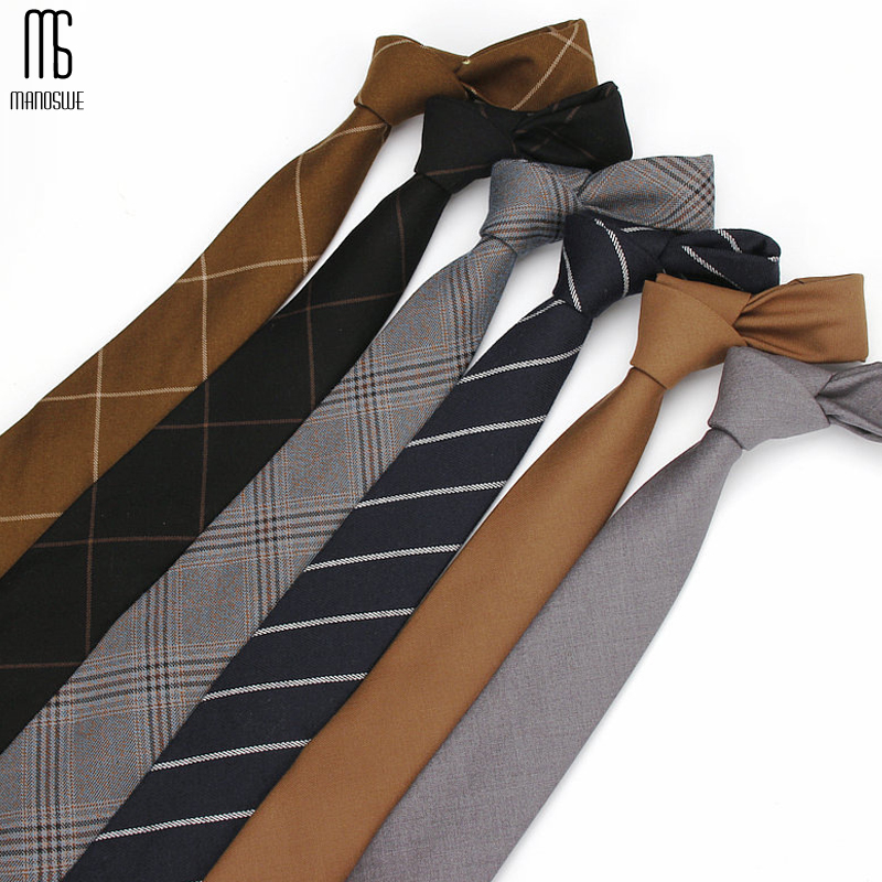 Manoswe Fashion British Style New Business Ties For Men Classic Striped Cotton Ties Party Neck Tie Accessories Gravatas Cravat