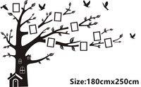 CaCar Pegatinas Large180 * 250 CM/79 * 99in Vinilo DIY Foto Tree Wall Decals/Familia de Adhesivo Pegatinas de pared Arte Mural Decoración Para El Hogar